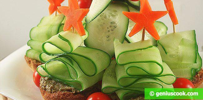Закуска Рождественские Елочки